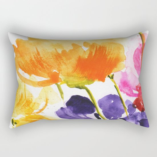 Little garden Rectangular Pillow