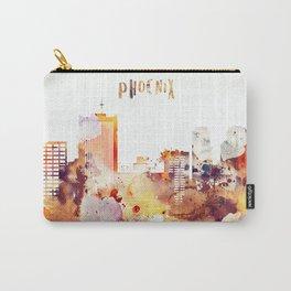Orange watercolor Phoenix skyline Carry-All Pouch