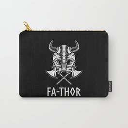 Fa-Thor Nordic Viking Skull Father Papa Dad Carry-All Pouch
