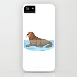 Manatees Aquatic Marine Mammals Herbivore Gift Floaty Potato Funny Animal  iPhone Case