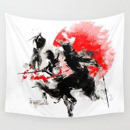 Samurai Duel Wall Tapestry