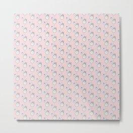My Neighbor Pattern (Pink) Metal Print