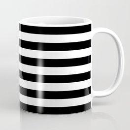 Abstract Black and White Stripe Lines 6 Coffee Mug