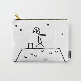 sleepwalker at night on house roof sleep Carry-All Pouch
