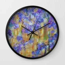 Purple Rain, abstract art Wall Clock