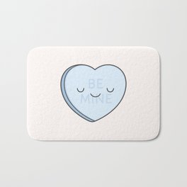 Blue Sweet Candy Heart Bath Mat