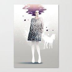 La Robe Zèbre Canvas Print