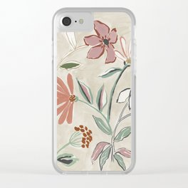 Monday Floral Clear iPhone Case