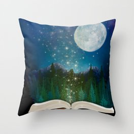 Open Your Imagination Throw Pillow