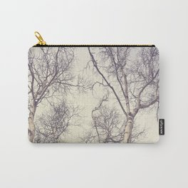 Winter Birch Trees Carry-All Pouch