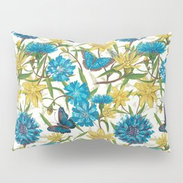 Seamless floral pattern with flowers and butterfly Pillow Sham