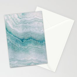 Sea green marble texture Stationery Cards