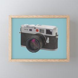 Leica M9 Camera polygon art Framed Mini Art Print