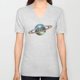Saturn Disco II Unisex V-Neck
