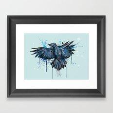 SkeleCrow Framed Art Print