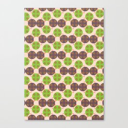 70s Inspired Pattern Canvas Print