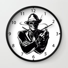 gangster skull. Wall Clock