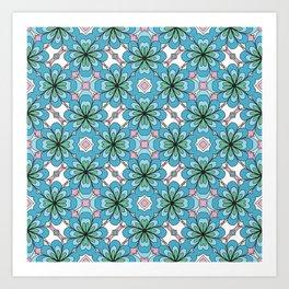Floral Lattice Art Print