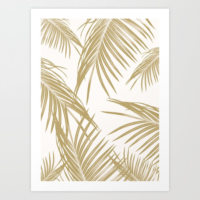 Gold Palm Leaves Dream #1 #tropical #decor #art #society6 Art Print