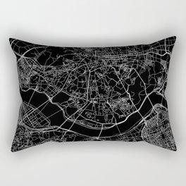 Seoul Black Map Rectangular Pillow