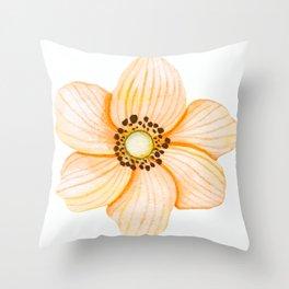 One Orange Flower Throw Pillow