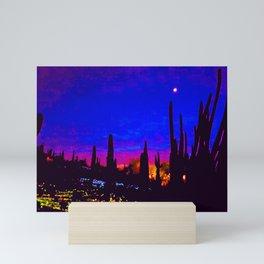 Sunset at the Botanical Gardens in Phoenix, Arizona  Mini Art Print