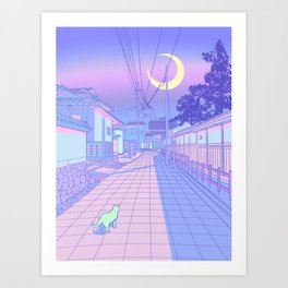 Kyoto Nights Art Print