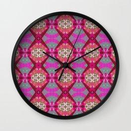Vintage African Rhythmic Pinks Wall Clock