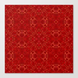 Red particles Canvas Print
