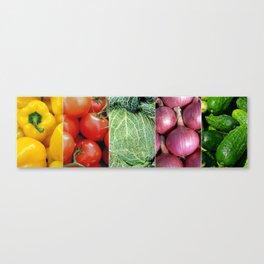Vegetable Collage - Restaurant or Kitchen Decor Canvas Print