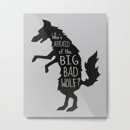 Who's Afraid of the Big Bad Wolf - Three Little Pigs Art Inspired Print Metal Print