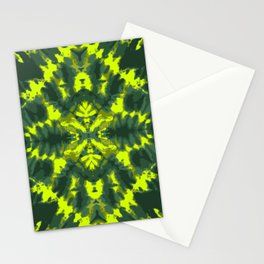 Neon green Shibori style design large scale Stationery Cards