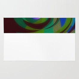 Green Oval Abstract Rug