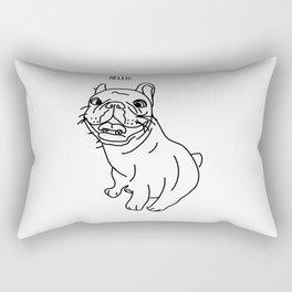 Hello Frenchie Rectangular Pillow