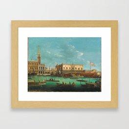 Giuseppe Bernardino Bison (Palmanova 1762–1844 Milan) The Bucintoro at the Molo, Venice, on Ascensio Framed Art Print