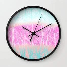 Winter Branches in Ice Cream Colors Wall Clock