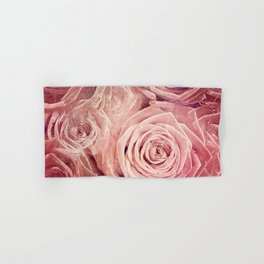 Distressed Roses - Double Exposure of Rose Blossoms Hand & Bath Towel