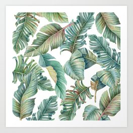 tropical leaves 1 Art Print