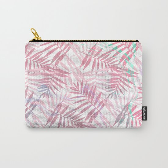 Pastel Color Palms Pattern Carry-All Pouch