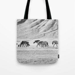 Horses in Iceland Photograph Tote Bag