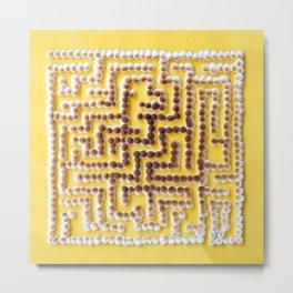 Mini [Toasted] Marshmallow Maze Metal Print