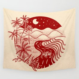 Memories of the Philippines - Red Wall Tapestry