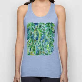 Split Leaf Philodendron – Green Unisex Tank Top
