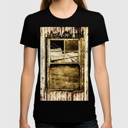 Window in a tin wall T-shirt