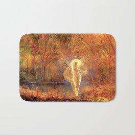 Dame Autumn by John Atkinson Grimshaw Bath Mat