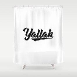 Arabic Yallah   Habibis Arabia Gifts Shower Curtain