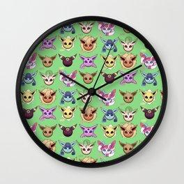 Eeveelutions Green Wall Clock