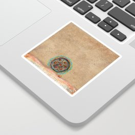 Seed with Red Pearl Sticker