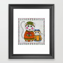 Mama & Baby Mouse Framed Art Print
