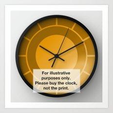 Halo Clock Art Print
